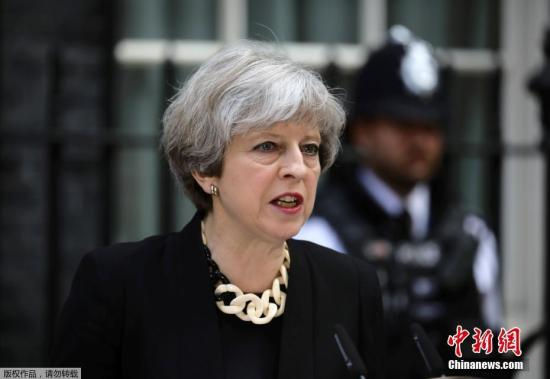 资料图:英国首相特蕾莎?梅。
