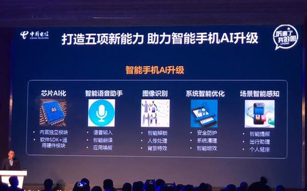 中国电信对智能手机AI升级要求(图片来自网络)