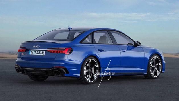 奥迪RS6三厢版假想图曝光 将达650马力