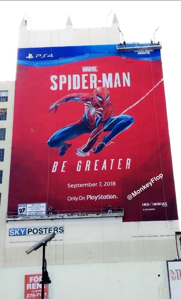 PS4独占蜘蛛侠将亮相E3 墙体海报完工