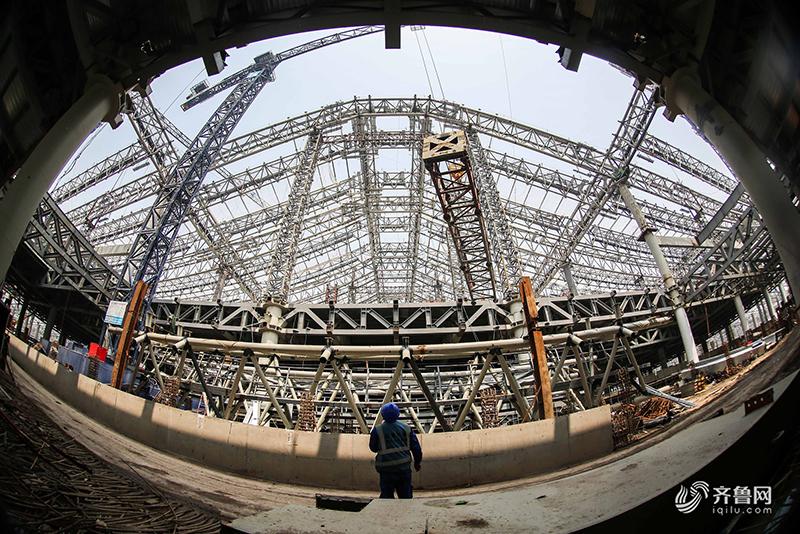 """红岛站是未来整个""""大青岛""""区域重要的交通枢纽,依托济青高铁,青连"""