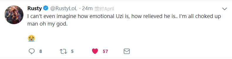 预言成真了!    uzi如王者般称霸四方!   而rng是2018msi的冠军!