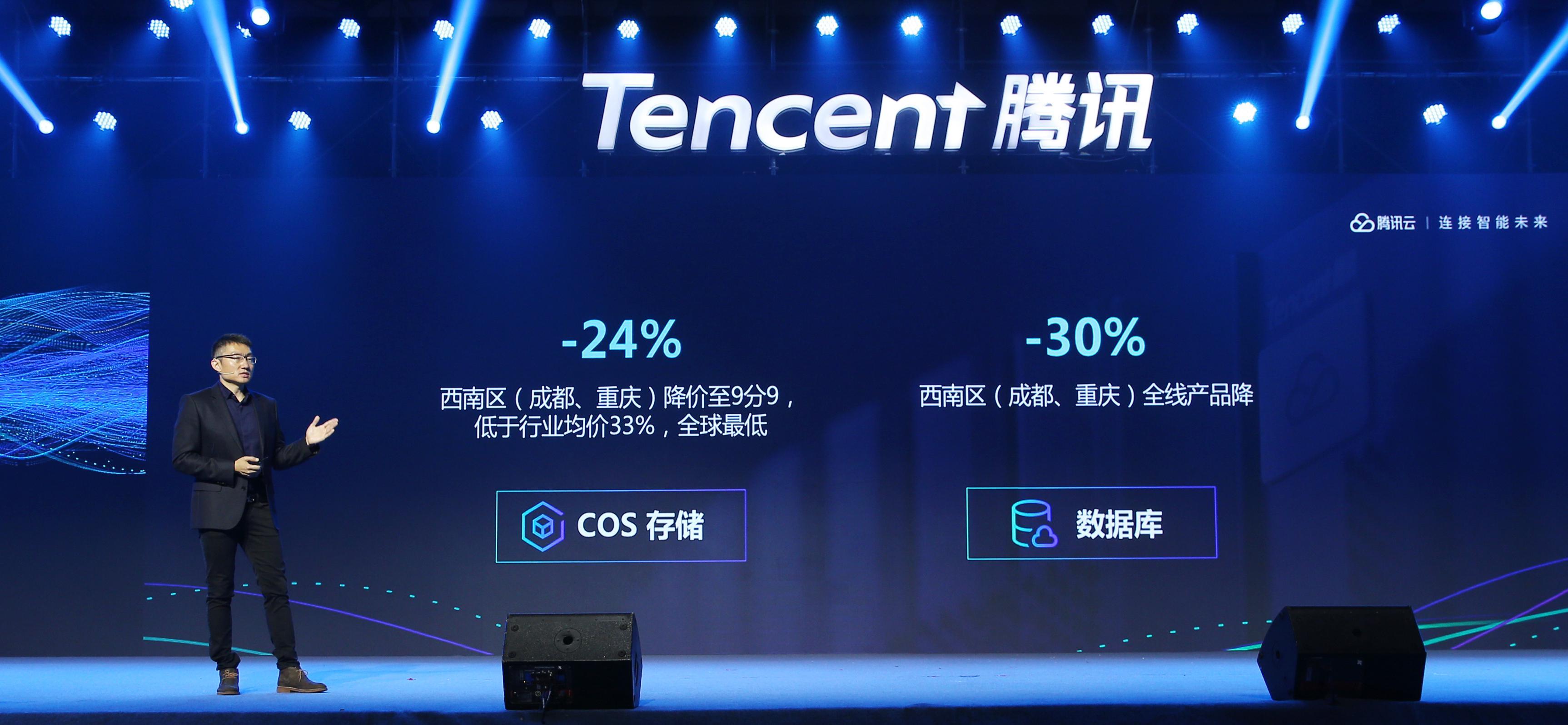 腾讯云核心产品全线降价,最高降幅达50%