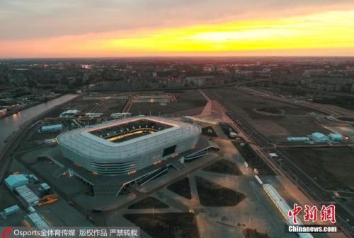由于加里宁格勒的地理位置位于波兰和立陶宛之间,加里宁格勒体育场是唯一一座在俄罗斯主要领土之外的世界杯比赛场馆。 图片来源:Osports全体育图片社
