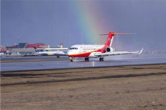 又一架ARJ21飞机飞上天:是本月第2架!