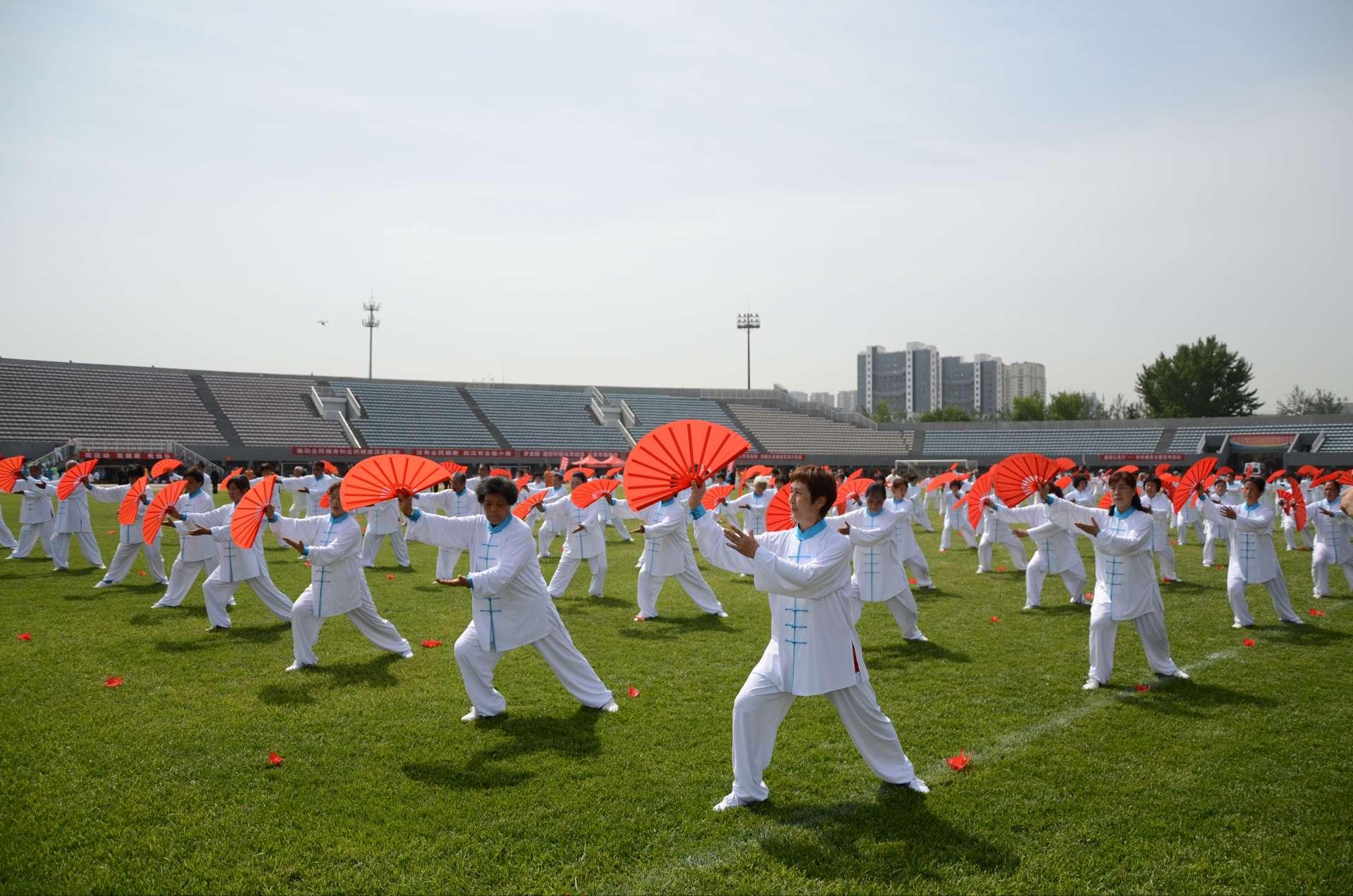 第四届山东省老年人运动会田径比赛开幕