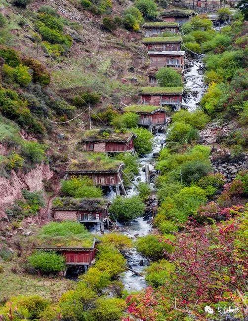 建于清代的水磨坊,甘肃境内仍在使用