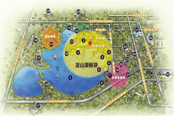 """昆山淀山湖  """"功能""""植物景观设计补充和完善景观方案设计,塑造不同的"""
