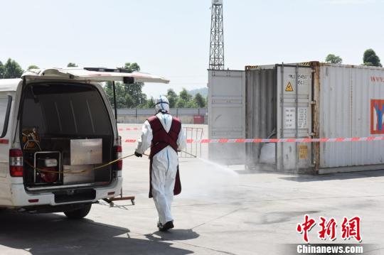 广州海关举行口岸突发核与辐射应急处置演练 关悦 摄