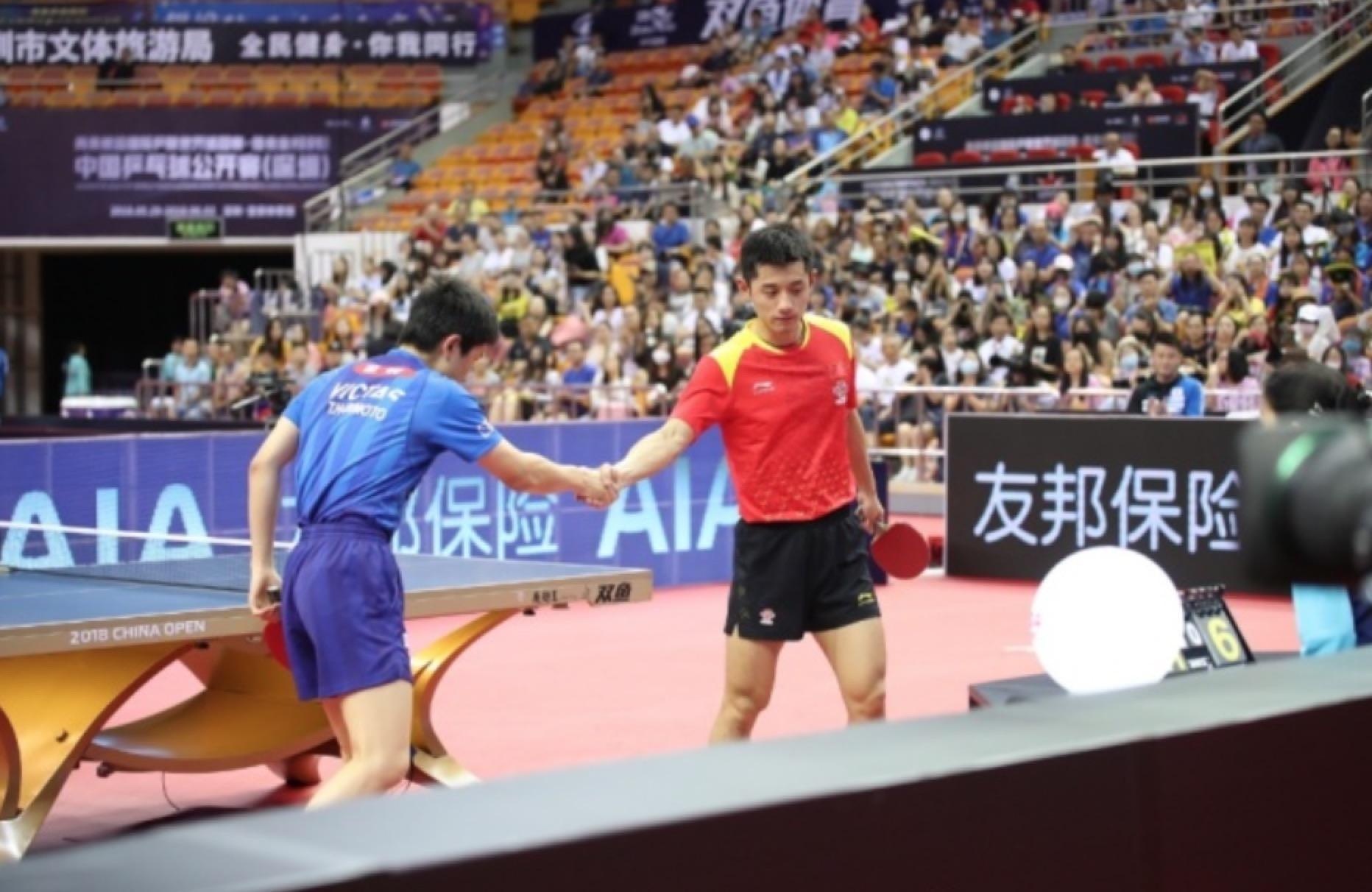 国乒世界冠军横扫张本智和为张继科复仇 林高远10