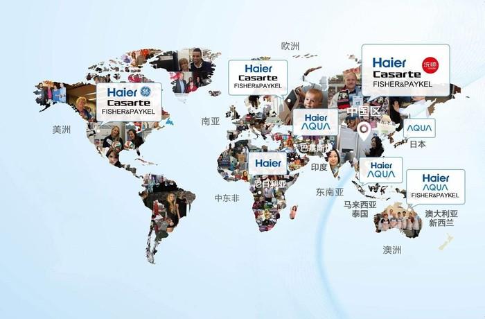 海尔的全球化布局