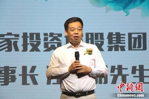 居然之家董事长汪林朋介绍原创艺术家商业模式