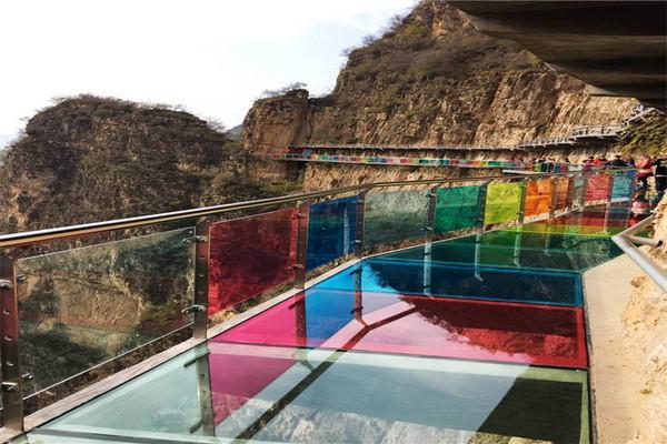 东湖港 京西小桂林 十渡七彩玻璃栈道 挑战七彩玻璃图片