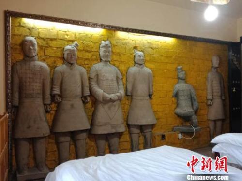 """图为西安""""兵马俑""""民宿。 史雪枫 摄"""