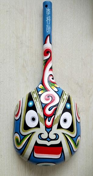 九龙坡巴勺脸谱: 瓢(勺)凸面上的艺术品