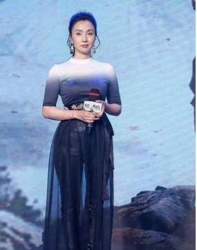 46岁陶虹穿透视薄纱裙出席活动 搭配时尚落落大方