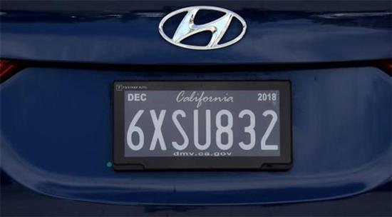 加州测试新款数字式车牌 用户担心隐私泄漏