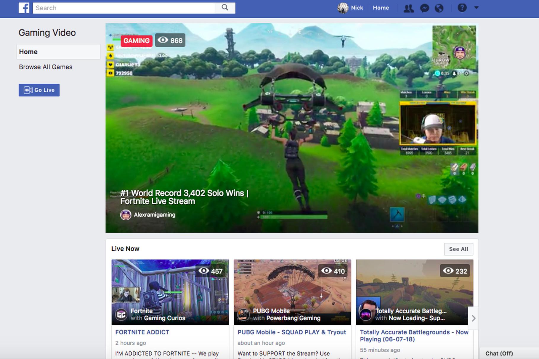Facebook 游戏直播 Fb.gg
