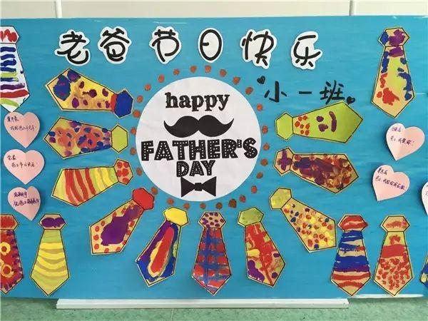 幼儿园父亲节主题环创资源,赶快布置起来!