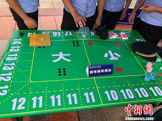 图为警方现场揭露赌博骗局 徐�G 摄