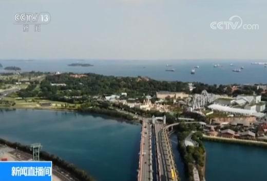 央视记者探访特金会举办地圣淘沙岛:仅一座桥可进出