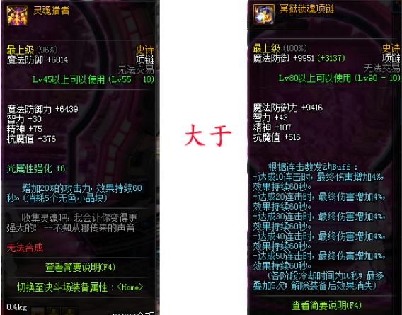 dnf超时空改版史诗排行: 最强项链灵魂猎者终下神坛!