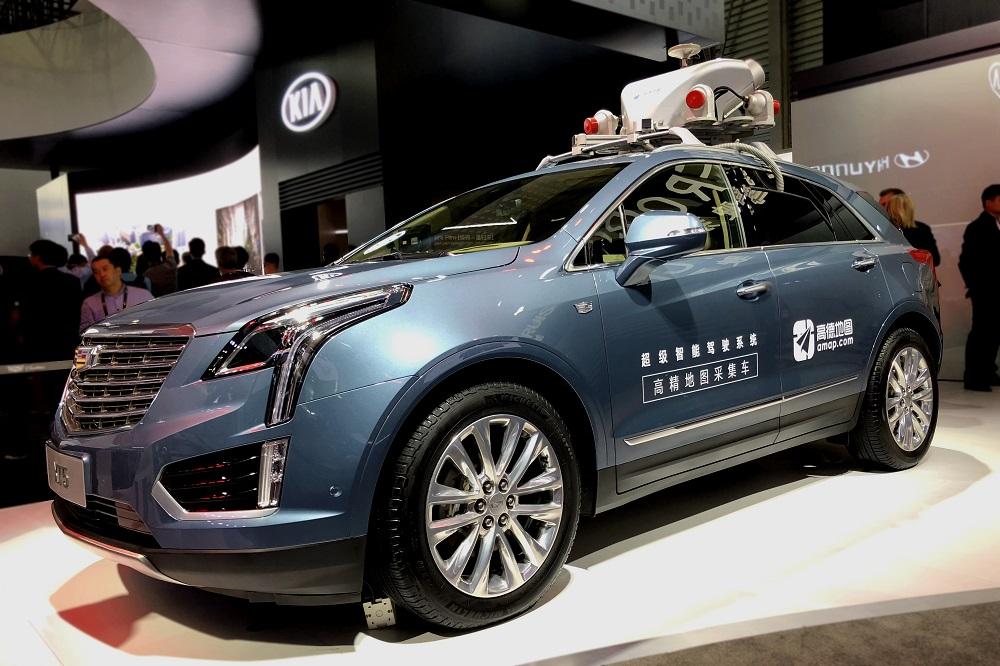 今年CES Asia 上展示的Super Cruise超级智能驾驶系统高精地图采集车