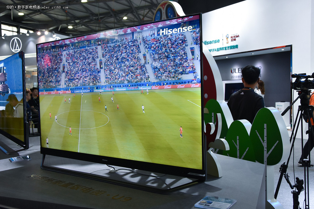 产品  u9是2018世界杯限量版电视,这台电视采用了悬浮无边框设计,并且