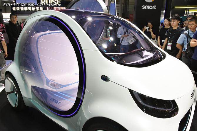 奔驰smart Vision EQ fortwo概念车亮相CESA