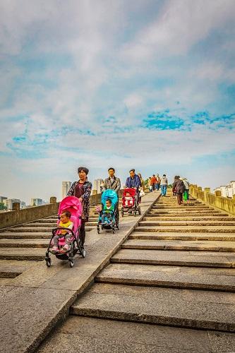 2018杭州运河随手拍活动二等奖作品《乐在其中》。楼纪范摄
