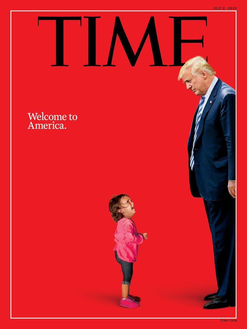 时代周刊最新封面引关注 非法移民女童朝特朗普
