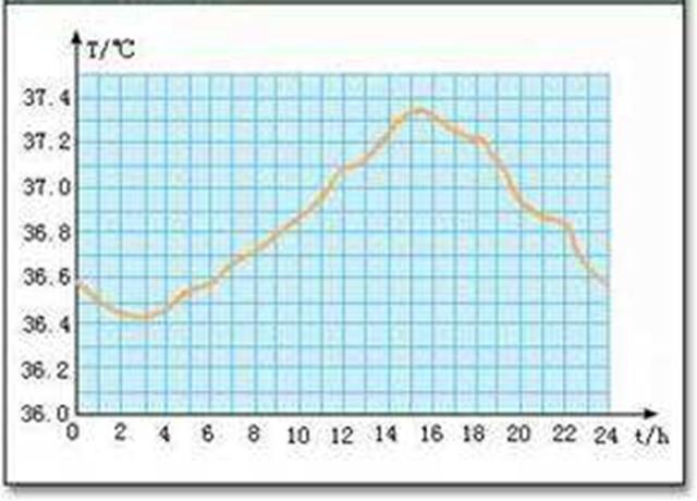 人体温度_人体温度变化示意图
