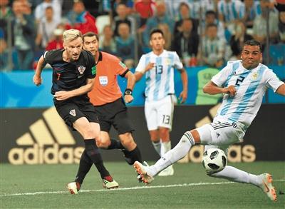 克罗地亚队3:0 胜阿根廷队