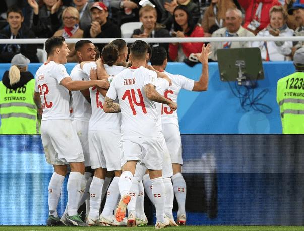 沙奇里绝杀瑞士队逆转塞尔维亚, 扎卡世界波技惊四座
