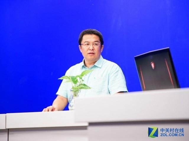 微星科技笔电业务副总经理吴阿东离