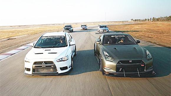 日系最快的3辆车比直线,GTR起步就输了,日本神车是真的多!