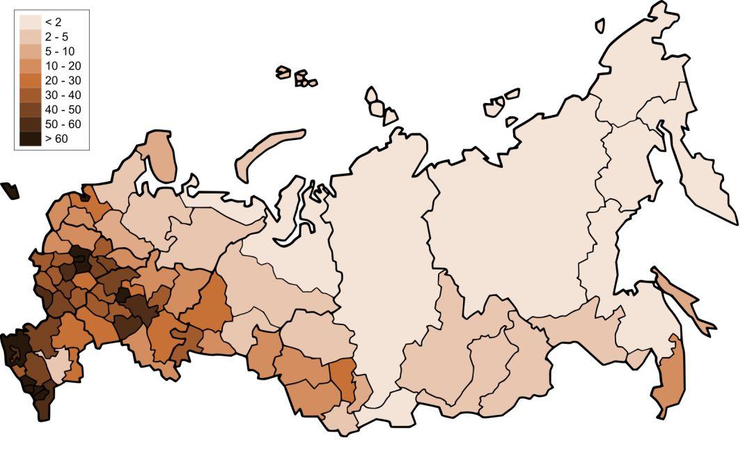 人口密度_俄罗斯人口密度