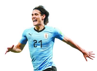 卡瓦尼 梅开二度 乌拉圭挺进八强