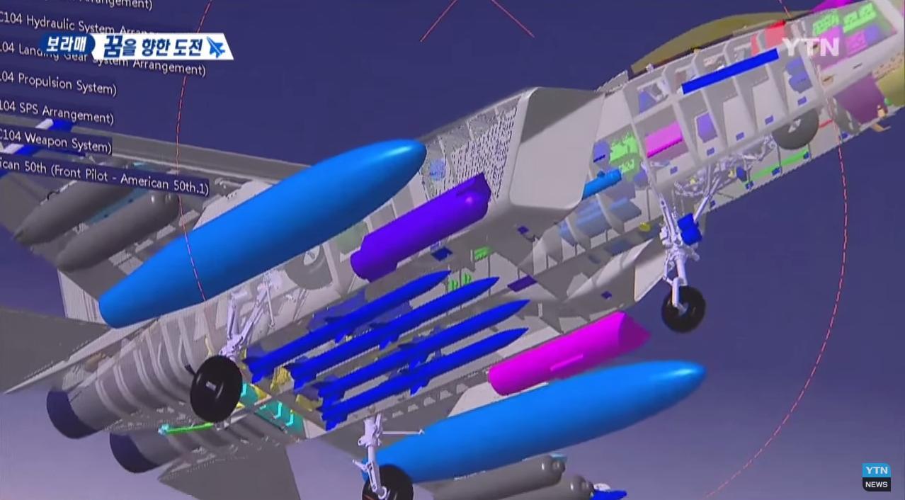 五代机不是谁都能造:韩国学人家搞了个模型,内置弹舱都没有