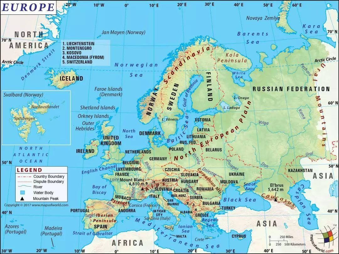 国家测绘地理信息局地图技术审查中心   凡事总有例外,亚洲和欧洲