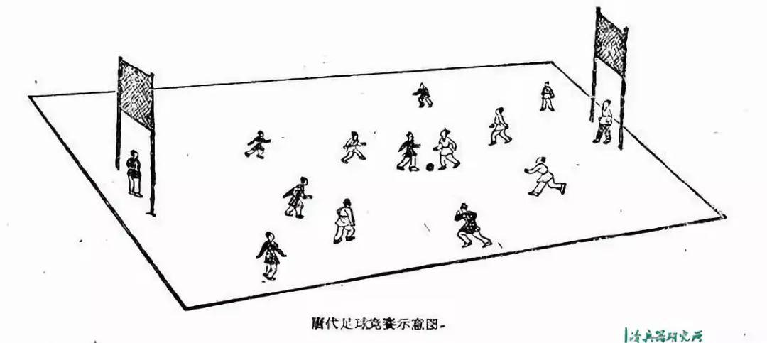 ▲唐朝军队蹴鞠场景