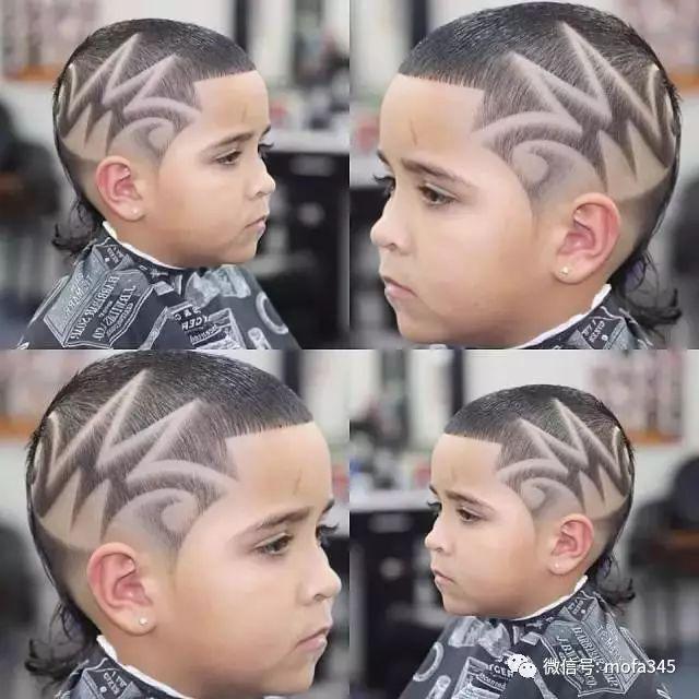 儿童超酷发型雕刻图案