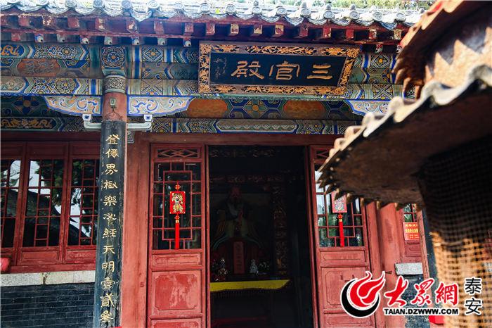 """泰山三官庙:千年""""五指柏"""" 内拜""""尧舜禹"""""""