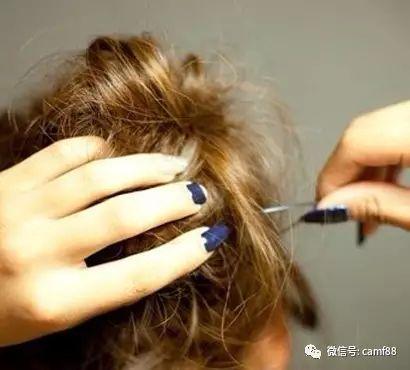 中短发怎么扎蓬松花苞头,清纯靓丽气质!