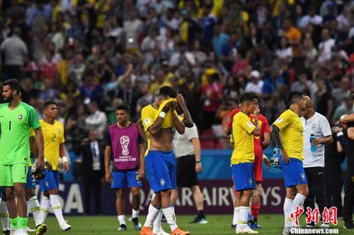 巴西不敌比利时,黯然出局。 中新社记者 田博川 摄