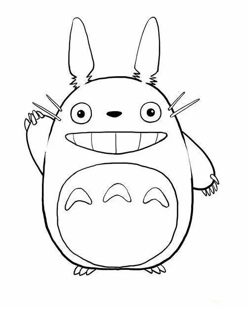 龙猫简笔画
