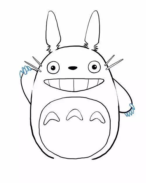 简笔画教程:大龙猫