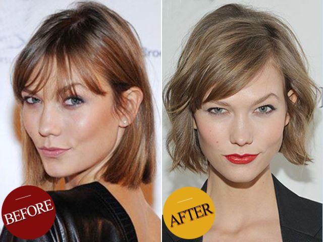 还有王珞丹:将头顶发丝吹蓬松,再为垂下的头发营造出自然卷度,脸型图片