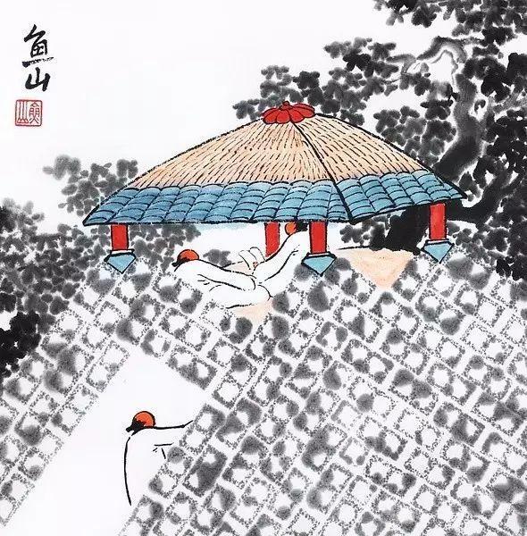 既融合了中国的山水画传统 又把当代的生活带入画中 他一直希望建筑