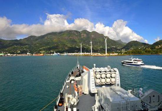 资料图片:中国海军舰艇访问塞舌尔。(图片来源于网络)